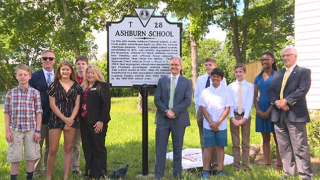 A Loudoun County project resulted in a historic marker placed at a segregation-era school.